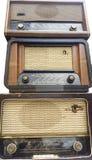 Винтажные радиоприемники, тюнеры Стоковая Фотография