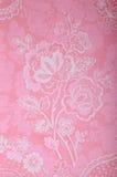 Винтажные розовые обои с викторианской картиной Стоковые Фотографии RF