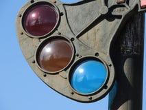 Винтажные света скрещивания поезда стоковое изображение rf
