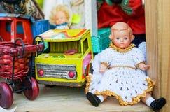Винтажные советские игрушки 1960s и 1970s стоковые фото