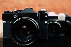Винтажные старые камеры Стоковое Изображение RF