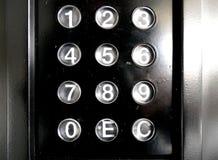 Винтажные старые пакостные кнопки панели торгового автомата Стоковое фото RF