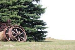 Винтажные стальные колеса Стоковая Фотография