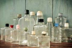 Винтажные стеклянные бутылки Стоковые Фотографии RF