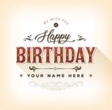 Винтажные с днем рождения Card Стоковые Фото
