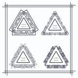Винтажные триангулярные геометрические рамки Стоковые Изображения