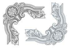 Винтажные угловые элементы дизайна Стоковые Фотографии RF