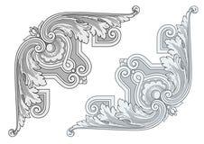 Винтажные угловые элементы дизайна Стоковые Изображения RF