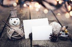 Винтажные украшения рождества Стоковое фото RF