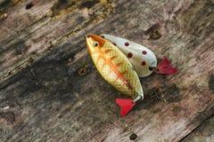 Винтажные укусы рыб металла Стоковое Фото