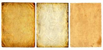 Винтажные установленные бумаги Стоковое фото RF