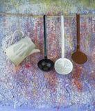 Винтажные утвари кухни Стоковая Фотография RF