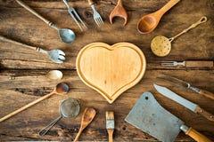 Винтажные утвари кухни стоковое фото rf