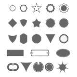 Винтажные формы значка Стоковое Фото