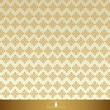 Винтажные флористические безшовные богато украшенные картины Золото с бежом иллюстрация штока