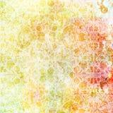 Винтажные флористические обои Стоковое Изображение