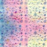 Винтажные флористические обои Стоковое фото RF