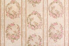 Винтажные флористические обои Стоковое Фото