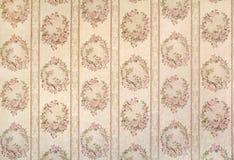 Винтажные флористические обои Стоковое Изображение RF
