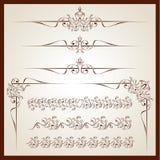 Винтажные флористические орнаменты иллюстрация вектора