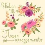 Винтажные цветки. Милый цветок для дизайна Стоковые Фото