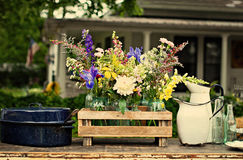 Винтажные цветки страны Стоковая Фотография