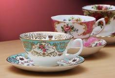 Винтажные чашки чая Стоковая Фотография RF