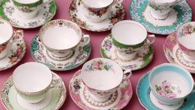 Винтажные чашки чая Стоковые Фотографии RF