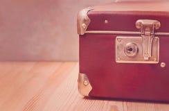 Винтажные чемоданы Багаж перемещения Идея проекта стоковое фото rf