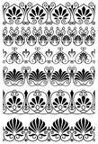 Винтажные черно-белые орнаментальные границы Стоковые Изображения RF