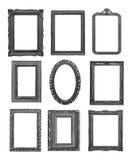 Винтажные черные рамки стоковые изображения