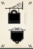 Винтажные черные шильдики Стоковые Изображения RF