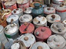 Винтажные чонсервные банкы газа Стоковое Фото
