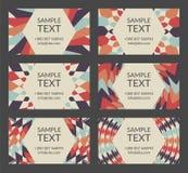 Винтажные шаблоны визитной карточки иллюстрация штока