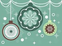 Винтажные шарики рождества иллюстрация вектора