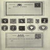 Винтажные штемпеля и открытка австралийца Стоковое Изображение RF