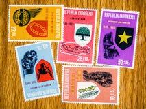 Винтажные штемпеля почтового сбора Монголии Стоковое Изображение RF