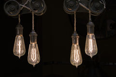 Винтажные электрические лампочки Стоковое Изображение