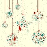 Винтажные элементы рождества Стоковые Фото