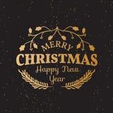 Винтажные элементы рождества Стоковая Фотография RF