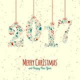 Винтажные элементы рождества Стоковое Изображение