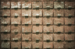 Винтажные ящики деревянные для абстрактной предпосылки Стоковые Фотографии RF