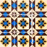 Винтажные azulejos, традиционные португальские плитки Стоковое Фото
