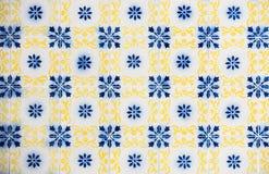 Винтажные azulejos, традиционные португальские плитки Стоковые Изображения