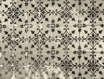 Винтажные azulejos, традиционные португальские плитки Стоковая Фотография RF