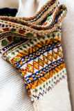 Винтажные handmade носки шерстей Стоковое Изображение