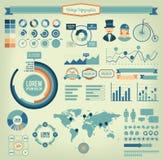 Винтажные infographic элементы Стоковое Изображение RF
