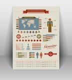 Винтажные infographic элементы Стоковые Изображения