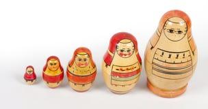 Винтажные matryoshkas стоковое изображение