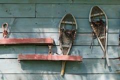Винтажные snowshoes Стоковое фото RF